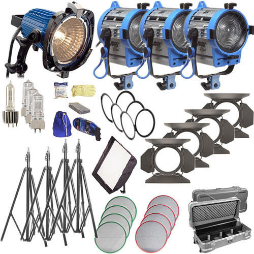 Arri Softbank Tungsten 4 Light Kit (1x 750W, 2x 650W, 1x300W)